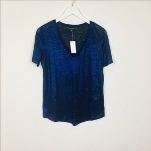 NWT Banana Republic V-neck Top Size M